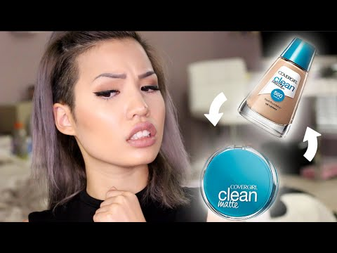 BRAND NEW | COVERGIRL CLEAN MATTE LIQUID FOUNDATION & POWDER REVIEW