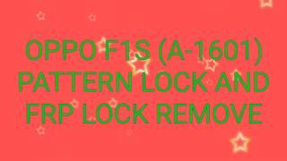 oppo a1601 pattern unlock mrt - Kênh video giải trí dành cho