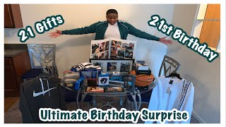 ULTIMATE BIRTHDAY SURPRISE | 21 GIFTS FOR HIS 21ST BIRTHDAY