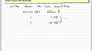Exchanging dollars to euros