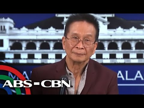 [ABS-CBN]  Presidential Spokesman Panelo holds press briefing