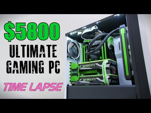 $5800 Ultimate Gaming PC - Time Lapse Build (видео)