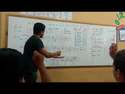Aula de teoria musical/ Escola Oscar Soares / Alto Garças MT / Projeto de música 🎶