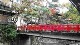 群馬県・四万温泉積善館とその周辺(秋の季節)