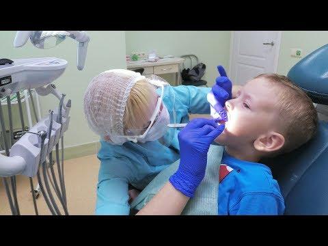 ЖЕСТЬ Малыш первый раз у стоматолога !!! Лечение кариеса молочных зубов