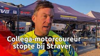 Deze Zweedse motorcoureur stopte bij de bewusteloze Edwin Straver.