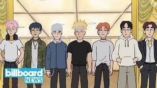 A First Look at Monsta X on Cartoon Network's 'We Bare Bears' | Billboard News