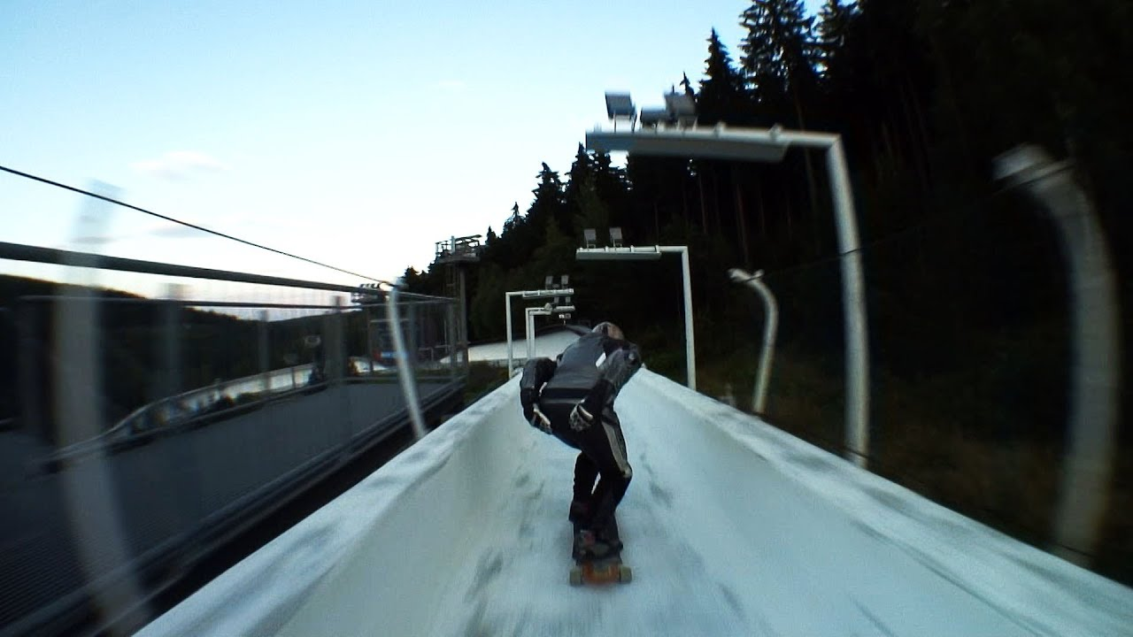 Skateboards On A Bobsled Track: Dangerous Fun