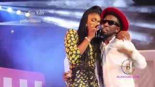 Becca  Bisa Kdei performamce at 1021 laugh and music