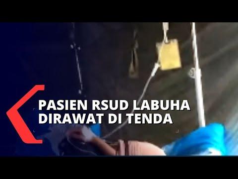 Masih Trauma Gempa, Pasien RSUD Labuha Dirawat di Tenda Darurat