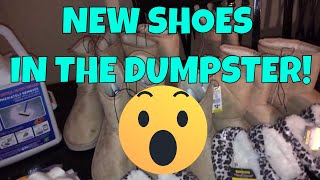 DUMPSTER DIVING LOTS NEW SHOES & MORE!