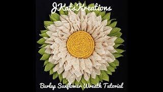 Burlap Sunflower Wreath Tutorial/6 Inch Burlap Wreath/DIY Burlap Wreath