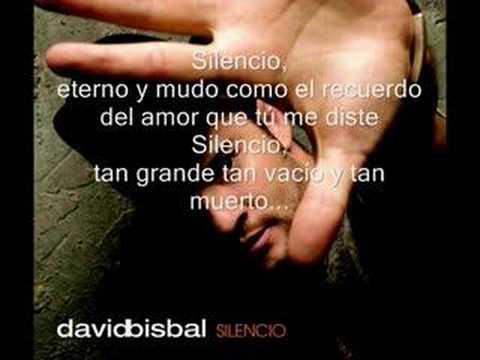 David Bisbal-Silencio (with lyrics)