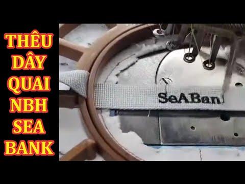 Thêu dây quai nón bảo hiểm Seabank
