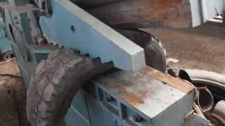 Резка шин – Станок для резки шин – Ножницы для резки автомобильных шин.