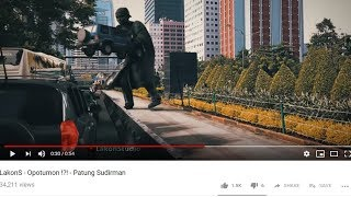 Viral Video Patung Jenderal Sudirman 'Hidup', Turun ke Jalan Pindahkan Mobil yang Masuk Jalur Busway