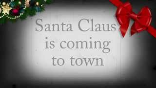 Frank Sinatra   Santa Claus is coming to town Lyrics Video   Christmas original