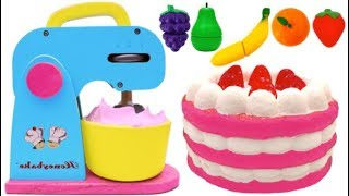 Making Squishy Strawberry Cake with Play Doh for Kids