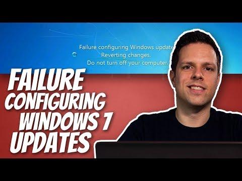 laptop stuck on failure configuring windows updates windows 7