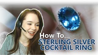 How To Make A Sterling Silver Cocktail Ring - Natural Topaz Gemstone