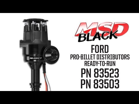 MSD Black Ford Ready-to-Run Distributors
