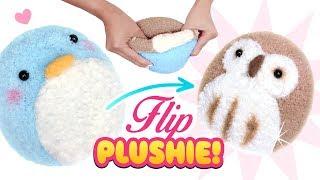 DIY VIRAL REVERSIBLE PLUSHIE!!! Owl & Penguin Sock Plush - Cute Budget Xmas Gift Ideas