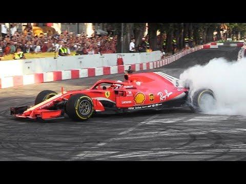 F1 Live Show in Milan before the Italian Grand Prix 2018: Ferrari SF71H, Sauber C32 V8, FXX K Evo
