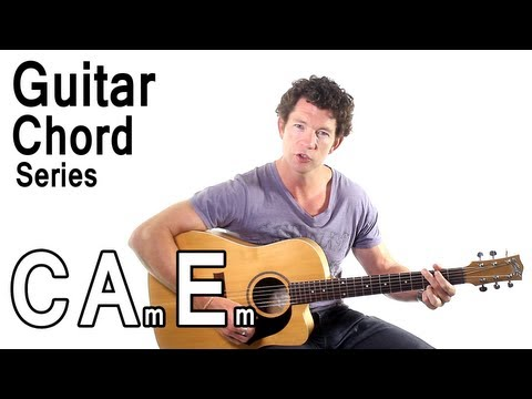 Beginner Guitar Chords 7 - C Major, A Minor, and E Minor