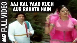 Aaj Kal Yaad Kuch Aur Rahata Hain Full VIDEO Song  Nagina  Sridevi Rishi Kapoor