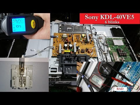 Sony KDL-40VE5 red led blinking 6 times problem. How to test it and...