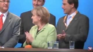 """Angela Merkel sings """"perfekte Welle"""