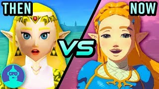 The Legend Of Zelda Breath Of The Wild Vs Ocarina Of Time - Then Vs Now   The Leaderboard