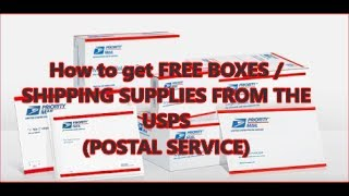 HOW TO GET FREE BOXES/SHIPPING SUPPLIES FOR YOUR EBAY BUSINESS PACKAGES / EBAY SHIPPING TIPS