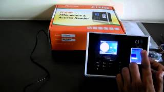 how to operate time attendance machine for register new user