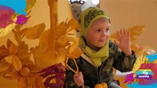 Куртка - парка демисезонная MOONI для девочки 5 лет, размеры 110 ТМ HUPPA Малиновый 17850004-00063 - видео 1