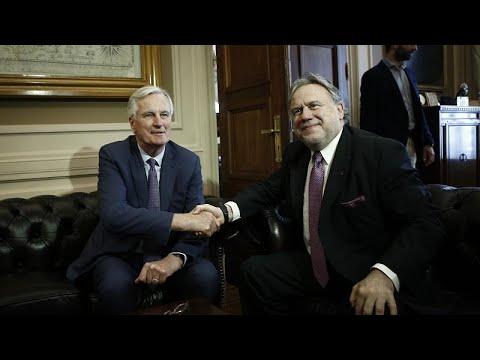Brexit και Κυπριακό στις επαφές Μπαρνιέ στην Αθήνα