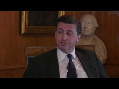 Still Image from the video: Douglas Alexander – Full Interview with LeadersIn