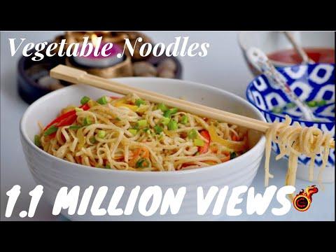 Restaurant Style Vegetable Hakka Noodles