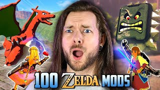 100 AMAZING MODS in Zelda Breath of the Wild at ONCE!