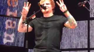 Front Row Ed Sheeran Wayfaring Stranger and New York Accent 10.29.13 Madison Square Garden No Mic!