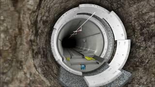 Koralmtunnel Visualisierung Tunnelaufbau