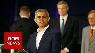 Labour's Sadiq Khan elected London Mayor - BBC News