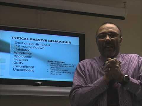 Assertiveness training seminar - recognising assertive passive and ...