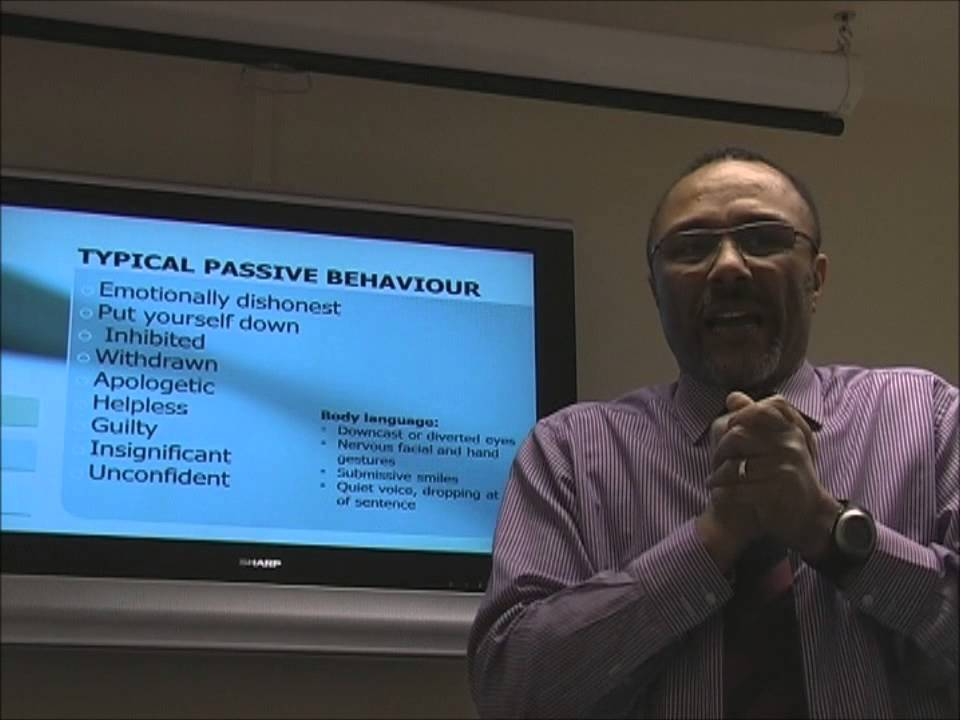 Recognising Assertive, Passive and Aggressive Behaviours