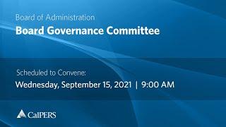 CalPERS Board Meeting   September 15, 2021