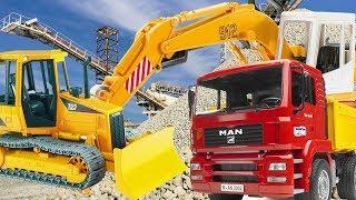 Видео для мальчиков про машинки - Большие Машины на Стройке