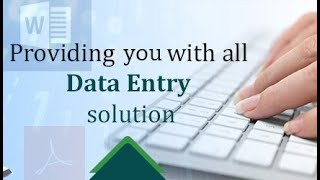 Do your Data entry perfectly, Copy Paste and Digital marketing also available.