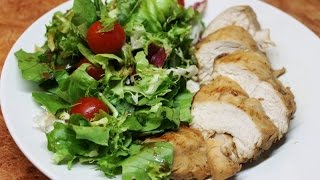Смотреть онлайн Сочное куриное филе в соусе терияки на гриле