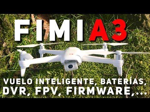 Vuelo inteligente, baterías, nuevo firmware... FIMI A3 en profundidad