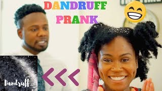 Dry Flaky Scalp   Dandruff Prank On Husband!!